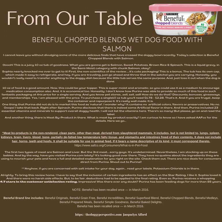Beneful Chopped Blends Review